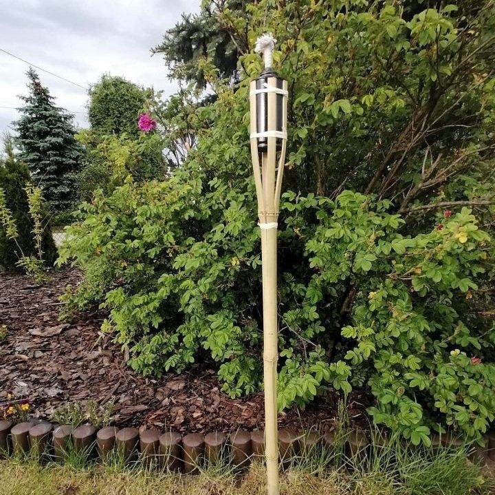 POCHODNIA BAMBUSOWA ogrodowa na KOMARY 90cm