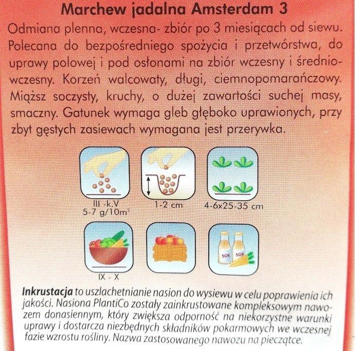 Marchew Amsterdam opakowanie Plantico
