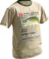 Dragon koszulka T-shirt PSTRĄG Sand XL