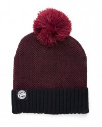 FOX Czapka Zimowa CHUNKY BURGUNDY BLACK BOBBLE