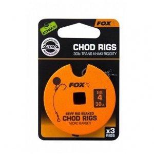 FOX Edges Przypon Chod Rig Trans Khaki r.4 30lb