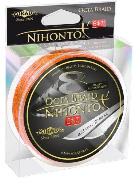 Mikado plecionka NIHONTO OCTA BRAID FLUO 150m 0.12mm Pomarańczowa