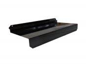 Metalowa półka z zagiętym w dół frontem do panelu 25 cm x 10 cm