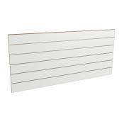 Panel sklepowy BIAŁY ze wsuwkami aluminiowymi 200 x 90 cm F15