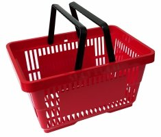 Shopping basket, 22 liter red