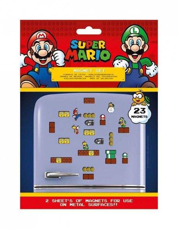 Super Mario Bros - Magnesy na lodówkę 23 szt.