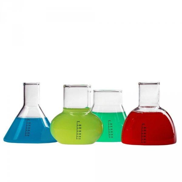 Kielony laboratoryjne szklane 4 sztuki (100% szkło) kieliszki