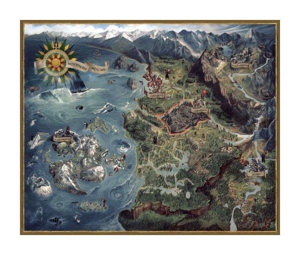Wiedźmin - Puzzle 1000 el. Królestwa Północy