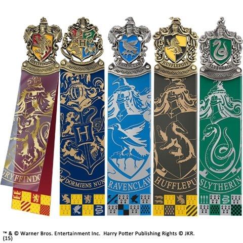 Harry Potter - Zestaw zakładki do książek 5 szt. Domy Hogwart