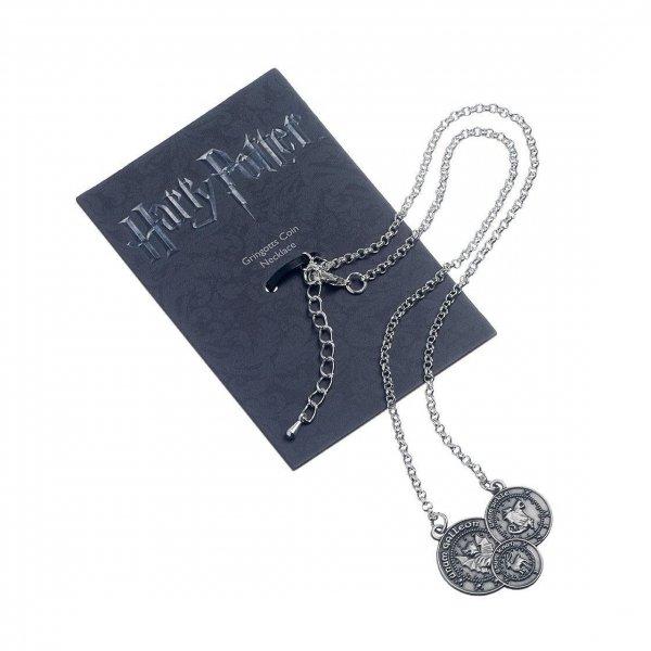 Harry Potter - Naszyjnik z wisiorkiem monety Gringotta (posrebrzany)