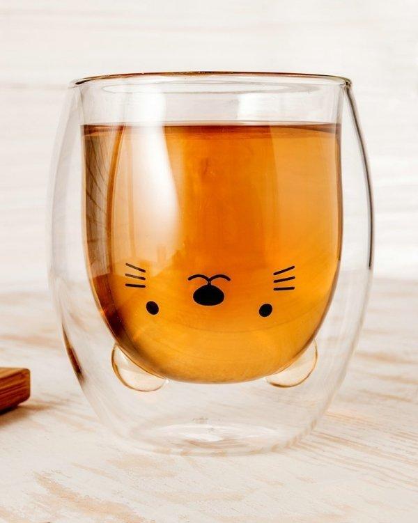 Szklanka kotek podwójne ścianki