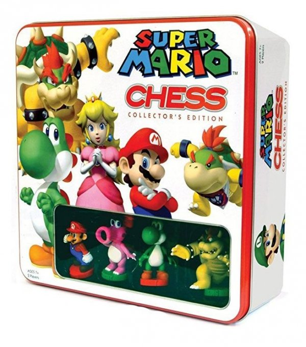 Super Mario - Szachy w metalowym pudełku box