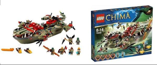 Chima - Krokodyla łódź Craggera - LEGO 70006