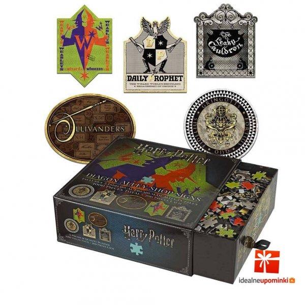 Harry Potter - Puzzle 1000 el. szyldy sklepów ulica Pokątna