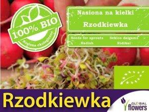 BIO Rzodkiewka - nasiona na kiełki ekologiczne 20g
