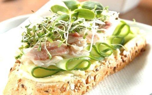 Kiełki fasoli Adzuki doskonałe do kanapek