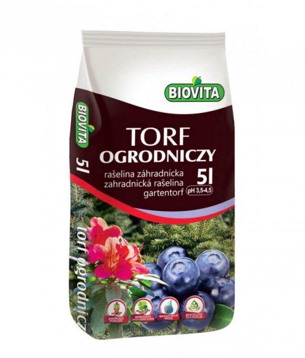 Biovita Torf ogrodniczy kwaśny 5L
