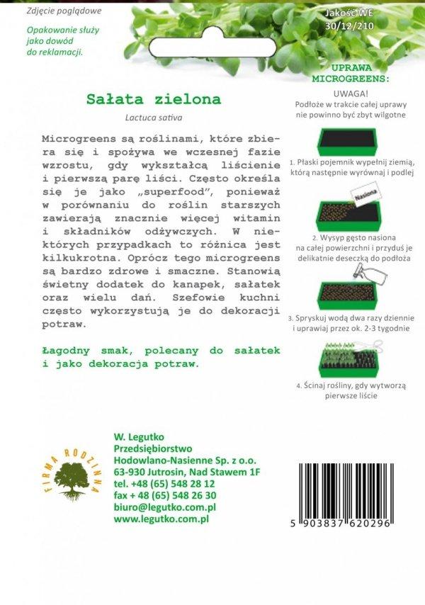 Sałata zielona uprawa