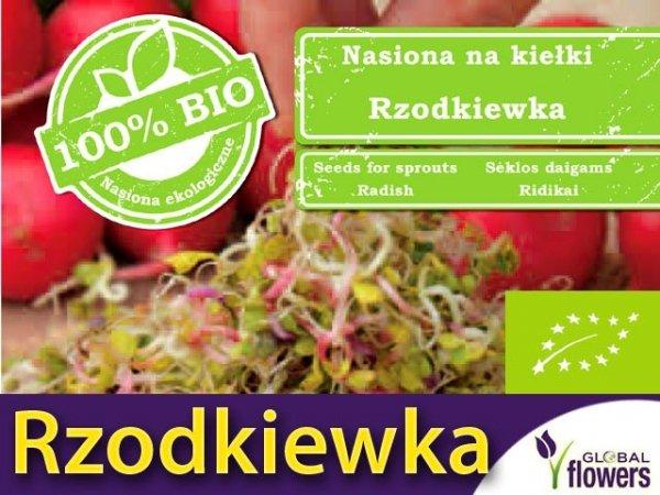 BIO Rzodkiewka - nasiona na kiełki 30g