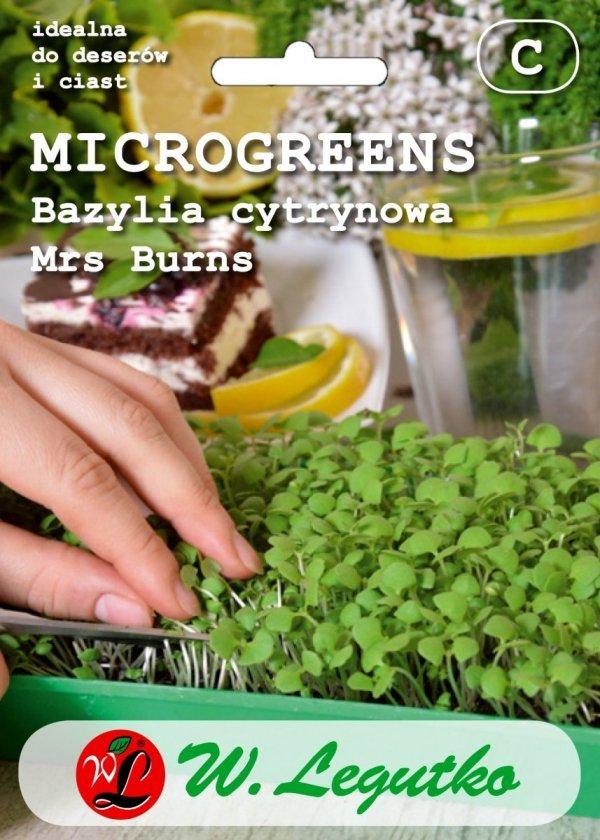 Microgreens nasiona bazylia cytrynowa