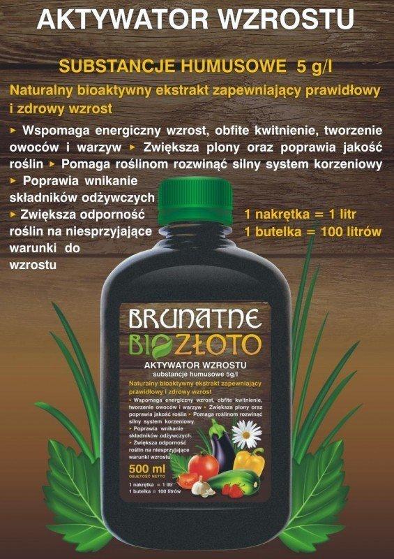 Brunatne BIO Złoto aktywator WZROSTU dla roślin 500ml