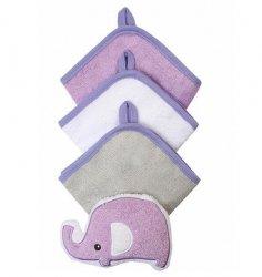 Zestaw 3 myjek z gąbką welurową  kolor fioletowy   baby ono KOD 149