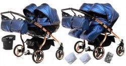 wózek bliźniaczy JUNAMA DIAMOND FLUO LINE  DUO 2w1