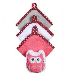 Zestaw 3 myjek z gąbką welurową  kolor różowy  baby ono KOD 149