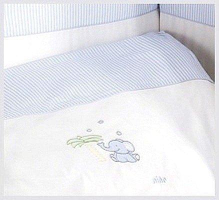 pościel 3 plus  ELEFANTE BLUE NINO ( ochraniacz, poszewki na kołdrę i poduszkę)
