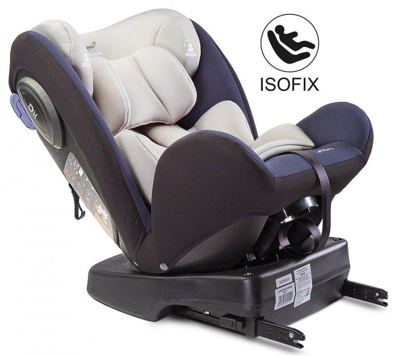 obrotowy fotelik samochodowy MOKKI ISOFIX SPS 0-36 KG caretero