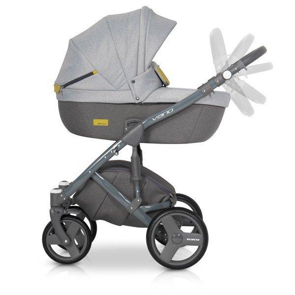 Nowoczesny wózek VARIO  ( gondola+spacerówka+ fotelik) firmy RIKO
