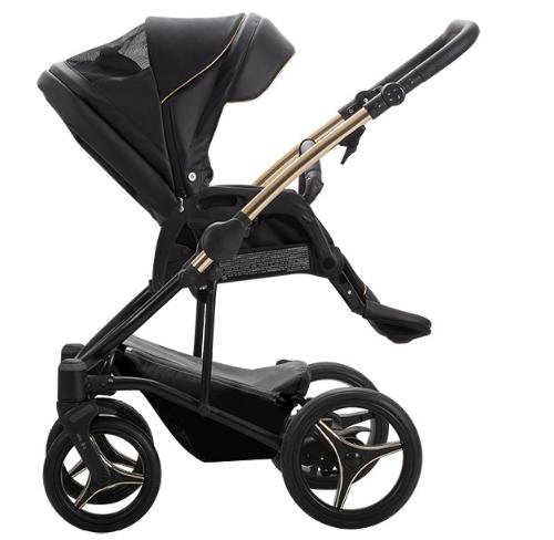 wózek wielofunkcyjny  TORINO  ZŁOTY lub MIEDZIANY STELAŻ  ( gondola+ spacerówka) Bebetto