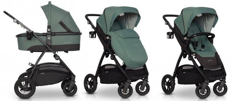 OPTIMO AIR 2020  zestaw 2w1 , koła pompowane, przekladane siedzisko , do 22 kg wagi dziecka , 4 KOLORY