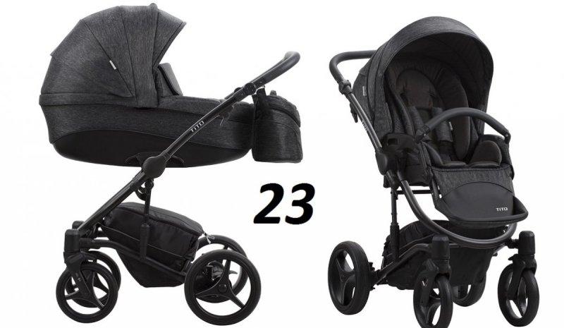 TITO NEW wózek ( gondola+spacerówka + fotelik MARS 0-13 kg) Bebetto 2020