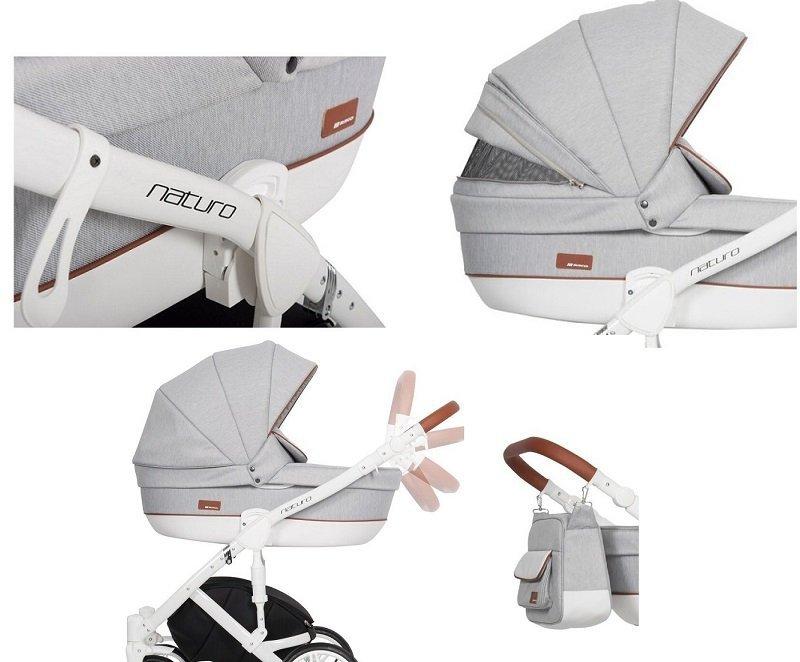 wózek wielofunkcyjny NATURE 2w1 ( stelaż+gondola++spacerówka) RIKO