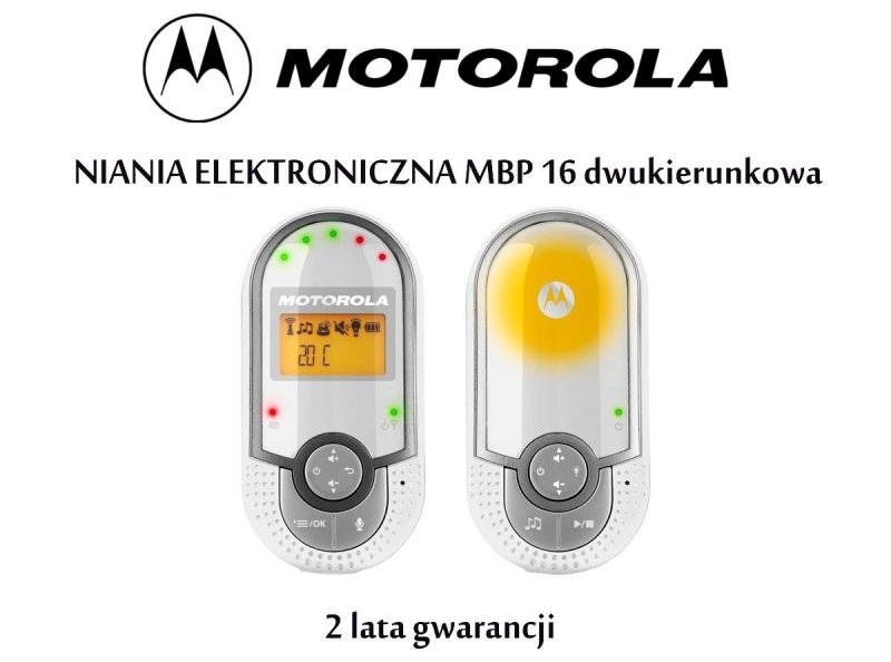 Elektroniczna niania MBP 16  z lampką, kołysankami i termometrem MOTOROLA