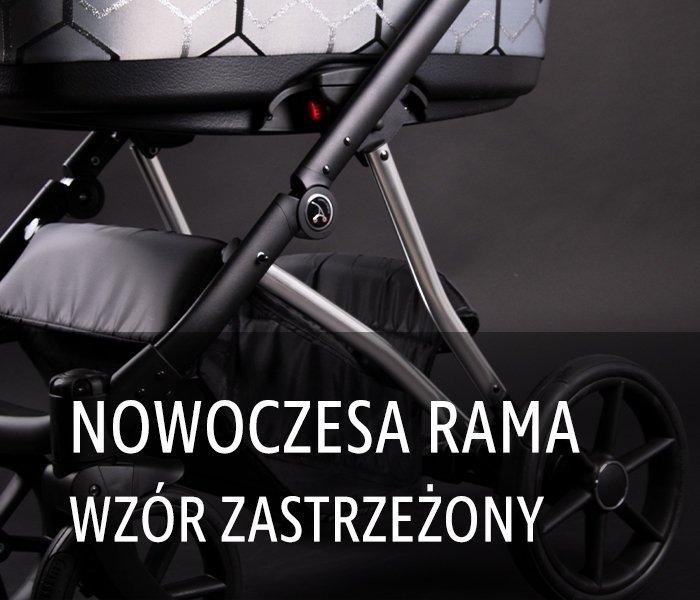 wózek wielofunkcyjny CRAFT 2w1 ( gondola +spacerówka ) COLETTO- dwa kolory stelaża SREBRNY I MIEDZIANY