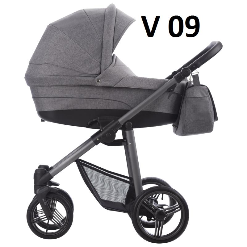 VULCANO 2021 dwa kolory stelaża ( gondola+spacerówka + fotelik ) + dodatki BEBETTO