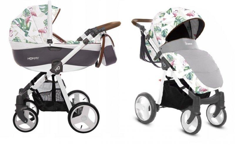 Mommy 2018 wózek wielofunkcyjny ( gondola+spacerówka ) babyactive