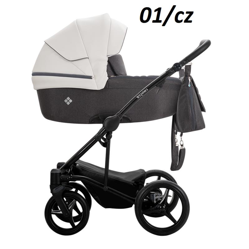 wózek wielofunkcyjny 2019 TORINO ( gondola+ spacerówka + fotelik MARS ) Bebetto