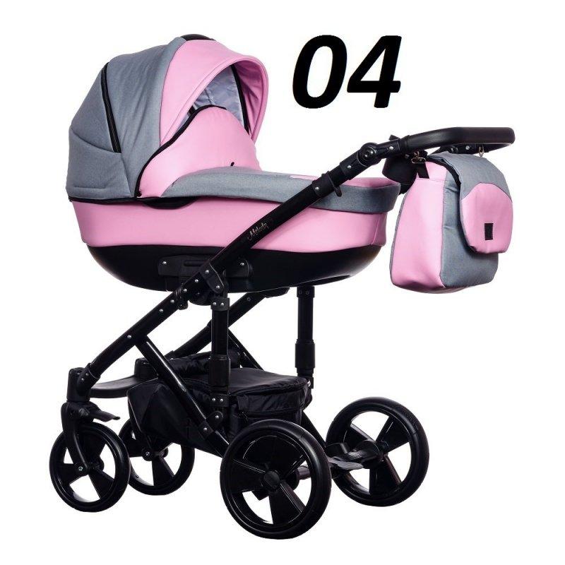 wózek Melody new 2w1 ( gondola + spacerówka) PARADISE BABY