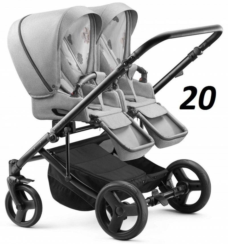 2020 wózek bliżniaczy DUO JEDO- ROK PO ROKU- (1 gondola+2 spacerówki) JEDO