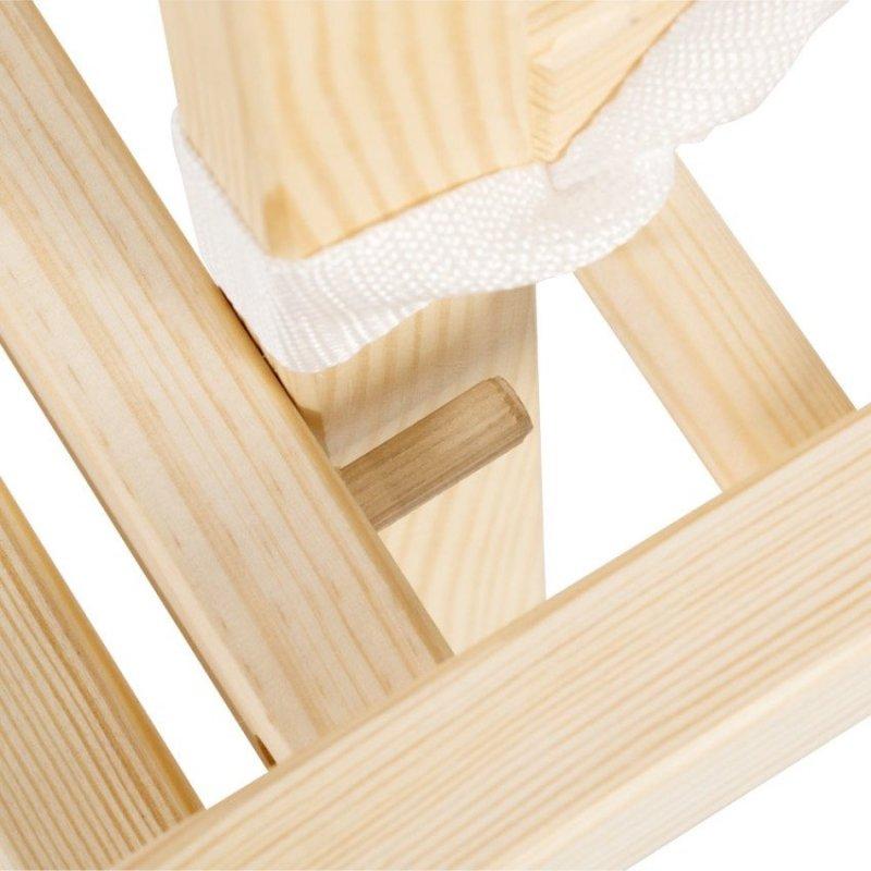 krzesełko  AGA  SOSNA  tapicerka szara  KLUPŚ ( kod C1)