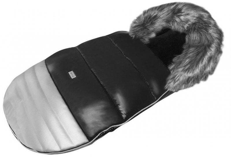 UNIWERSALNY śpiworek czarno - srebrny do wózków głebokich i spacerowych MILUKIDS