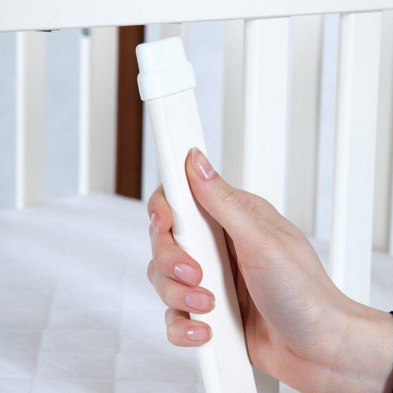 łóżeczko IWO BIAŁY + szuflada 120/60  + dodatkowa barierka FUNKCJA  SOFY KLUPŚ