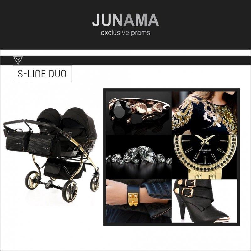 wózek bliżniaczy JUNAMA DIAMOND S-LINE DUO  2w1