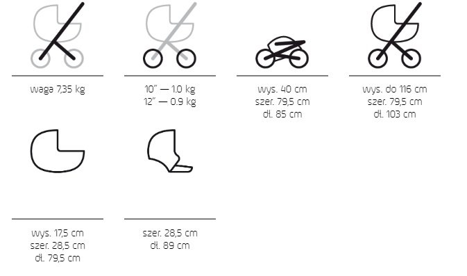 2020 wózek bliżniaczy DUO JEDO  ( tylko 2 gondole) JEDO
