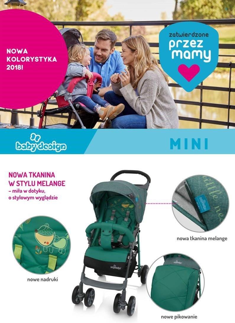 wózek spacerowy MINI Baby design kolory