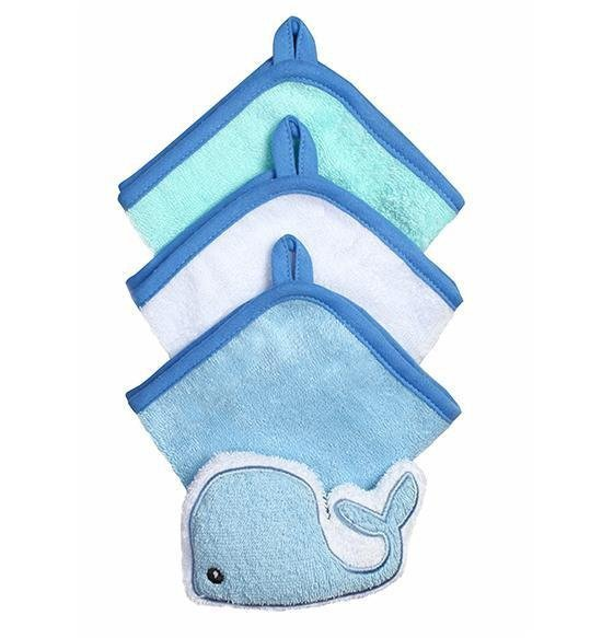Zestaw 3 myjek z gąbką welurową  kolor niebieski  baby ono KOD 149