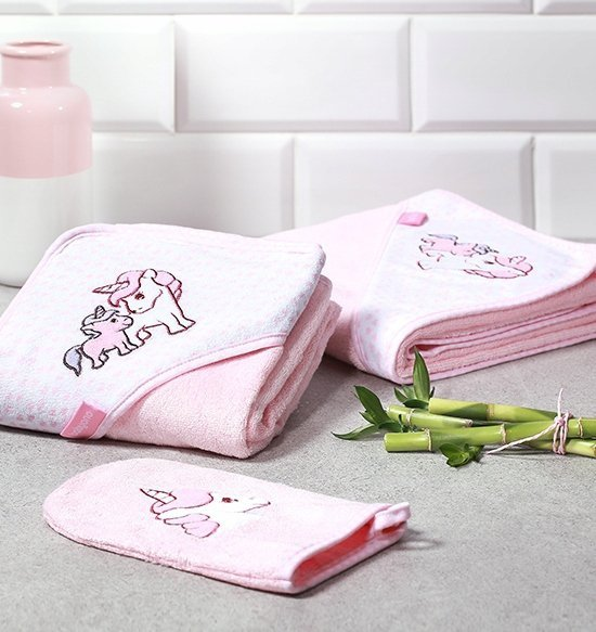 Okrycie kąpielowe bambusowe z kapturkiem 100/100 cm– ręcznik kąpielowy kod  346 BABY ONO